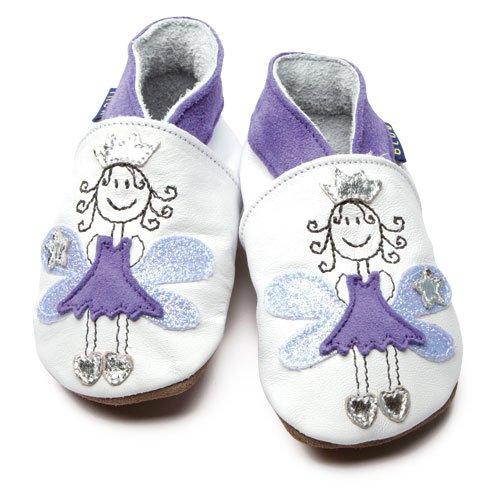 Inch Blue - 1467 L - Chaussures Bébé Souples - Fairy Princess - Blanc / Lilas - T 20-22 cm - 12-18 mois
