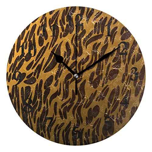 NMCEO Round Wall Clock Animal Footprint Texture Acrylic Original Clock for Home Decor Creative
