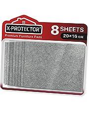 Meubilair Pads Vloerbeschermers X-PROTECTOR 8 PCS 20x16cm - Vilten Pads voor Stoelpoten - Premium Meubilair Vilten Pads voor Meubelpoten - Gesneden Vloerbescherming Pads die je nodig hebt - Bescherm uw houten vloeren!