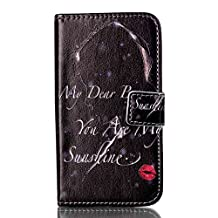Stand Book Design Flip PU Leather Wallet Phone Cover Pouch Case For Samsung Galaxy Core Prime G360 (Red Lips Girl)