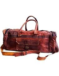 26 Mens Genuine Leather Vintage Duffle Gym Large Travel Weekend Luggage Bag
