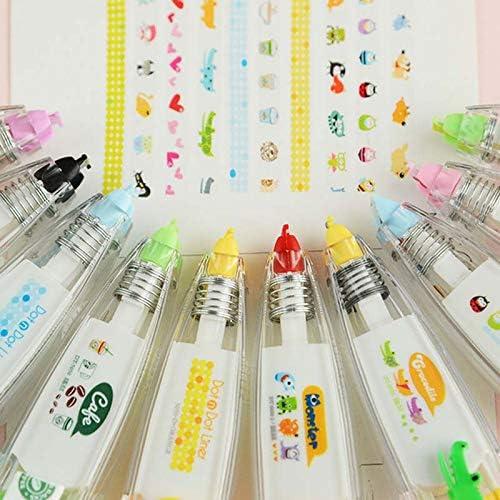 Amazon.com: Salemi Pen Stamp Cartoon Cute Sweet Decorative Correction Tape Fita Cetim Deco Rush Papeleria Cinta Correctora Kawaii School Materials - (Color: Pattern for Girls): Arts, Crafts & Sewing