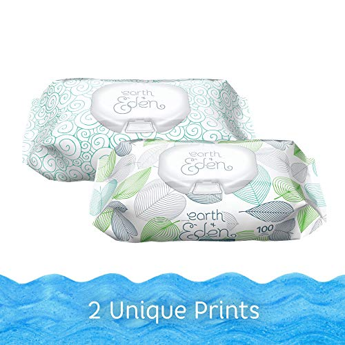 Earth + Eden Ultra Premium 99% Water Wipes (600 Count)