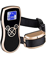 500 yd Remote Dog Training Collar Rechargeable and Rainproof Dog Shock Collar with Beep Adjustable Collar, Suit for Small, Medium and Large,15 to 150 lbs Vibra and Shock Electronic Collar FONPOO