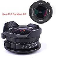 Pixco 8mm F3.8 Fish-eye CCTV Lens for Micro Four Thirds Micro 4/3 M4/3 Mount MFT Camera GX8 G7 GF7 GH4 GM1 GX7 GF6 GH3 G5