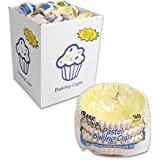 """Bake Fresh 90pcs Paper Pastel Baking Cups (Top Size 2.5"""") Made in USA"""