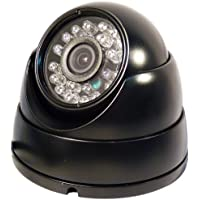 740B Professional 700 TVL High Resolution Black Dome Waterproof Outdoor/Indoor - 3.6 mm Wide View Angle Lens