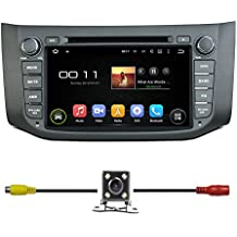 """BlueLotus® 8"""" Android 5.1 Quad Core Car DVD GPS Navigation for Nissan Sentra 2013 2014 +TV+Radio Bluetooth+WIFI+SWC+RDS+AV+AUX IN+Backup Camera + USA Map"""