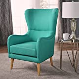Christopher Knight Home 301842 Saunder Arm Chair, Teal + Natural