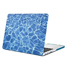 Mosiso Plastic Hard Case Cover Only for MacBook Pro 13 Inch with Retina Display No CD-ROM (A1502/A1425, Version 2015/2014/2013/end 2012), Water Ripples Blue