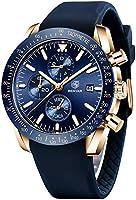 Montre Homme BENYAR Etanche Chronographe Mouvement à Quartz Lumineuses Mode Acier Inoxydable Montres Grand Cadran Date...