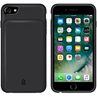 iPhone 6 Battery Case [4500mAh], SQDeal Uitra Slim Soft Silicone Charger Extended Charging Case Protective Juice Pack Power for iPhone 8/7/6s/6 - (4.7 Inch,Black) (Black)