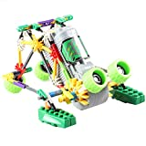 [ Motorial Alien Robot ] LOZ Robotic Building Set Block Toy ,Battery Motor Operated,3D Puzzle Design Alien Primate Robot Figure for kids and adults , Sturdy Enough ,118parts(Frog)