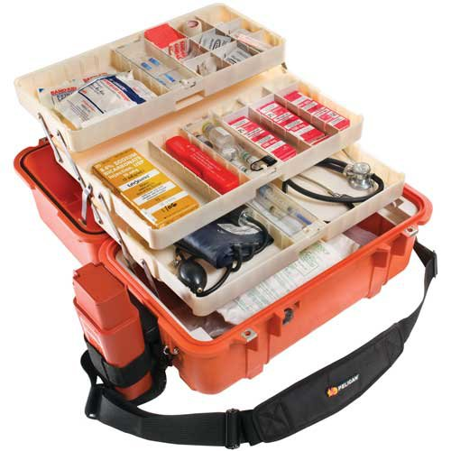 Pelican 1460EMS Case with Tray - Orange