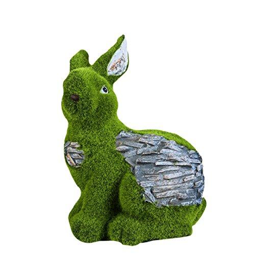 Sharpex Rabbit shape Garden Animal Statue / Lawn Yard Art Sculpture Decorations, Indoor / Outdoor Art Lawn Ornaments Garden Gnome Sculpture for Patio, Yard or Lawn (Artificial Grass)