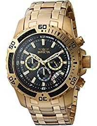 Men's 'Pro Diver' Quartz and Stainless Steel Casual Watch, Color:Gold-Toned (Model: 24855)