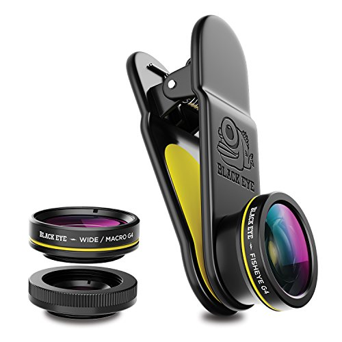 Black Eye - Clip-on Lens (3 Lenses) Compatible with All iPhone, iPad, Samsung Galaxy, and Other Cell Phones