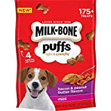 Milk-Bone Puffs Peanut Butter and Bacon Mini Dog Treats, 8 oz (Pack of 4)