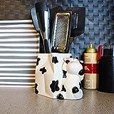 Sixdrop Cow Utensil Holder, Cow Kitchen Utensil