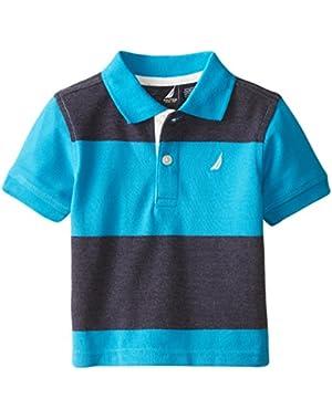 Baby Boys' Short Sleeve Stripe Pique Polo