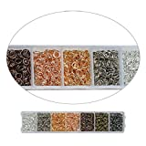 Nairua 7 Color Jump Rings for Earrings Making and