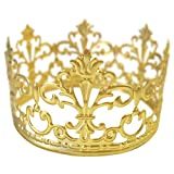 BESTONZON Tiara Crown Party Cake Decoration Crown Hair Ornaments Wedding Supplies Accessories (Gold)