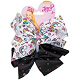 "JOfficial JoJo Siwa""Cupcakes & Black Diamante's"" 2 Pack Hair Clip Bow Set with Charms"