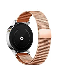 18MM 20MM 22MM Watch Bands Pinhen Milanese Loop Magnet Mesh Stainless Steel Watch Band For LG Samsung Gear S2 Moto 360 Smart Watch (20MM Rose)