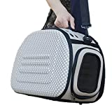 TMS Laden Lightweight Mesh Cats Small Dog Carrier Outdoors Travel Tote Bag Pet Carrier (Grey)