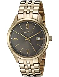 Bulova Mens Quartz Stainless Steel Casual Watch, Color:Gold-Toned (Model: 44B111)