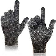 arteesol Winter Gloves Men Thermal Gloves Winter Knit Glove Men Women Antislip Driving Cycling Running Climbin