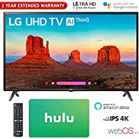 LG 43UK6300 43 UK6300 4K HDR SmartLED AI UHD TV w/ThinQ Gift Card & Warranty Packs