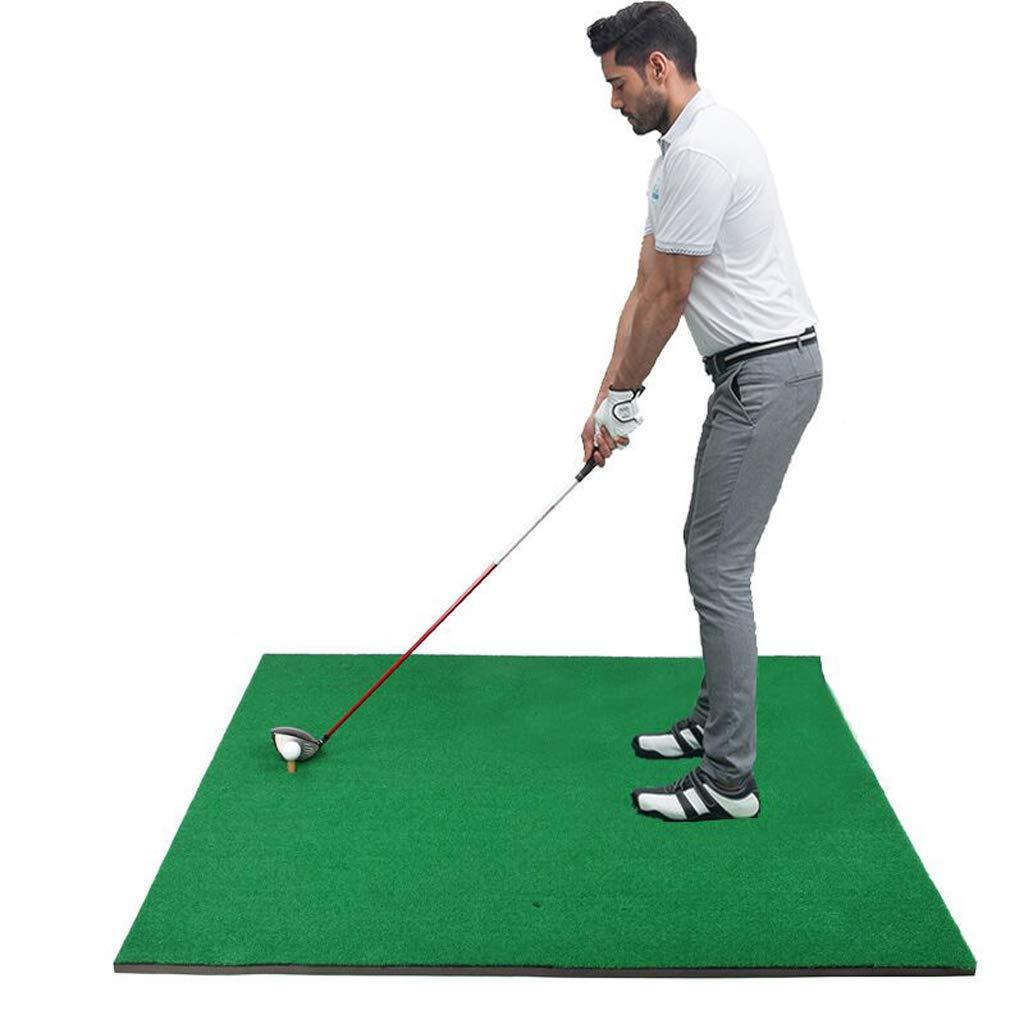 BYNNGolfdゴルフマット、家族練習用マット/ボールマット/スイングトレーナーティーパッド/屋内用スイング練習用底部厚さ2CM で利用可能(サイズ:100×120 cm) B07H7J6RMP