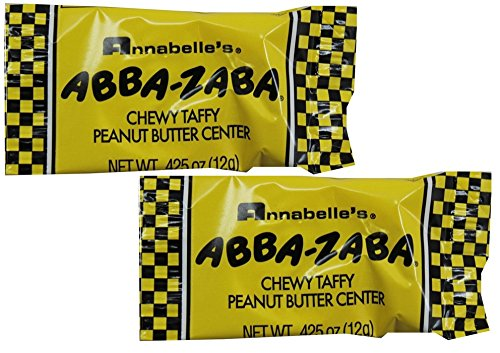 Annabelle Abba-Zaba Candy Bars, 1 Pound (Heart Candy Bars)