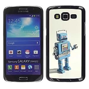 Paccase / SLIM PC / Aliminium Casa Carcasa Funda Case Cover para - Robot Ai Technology It Machine Drawing - Samsung Galaxy Grand 2 SM-G7102 SM-G7105