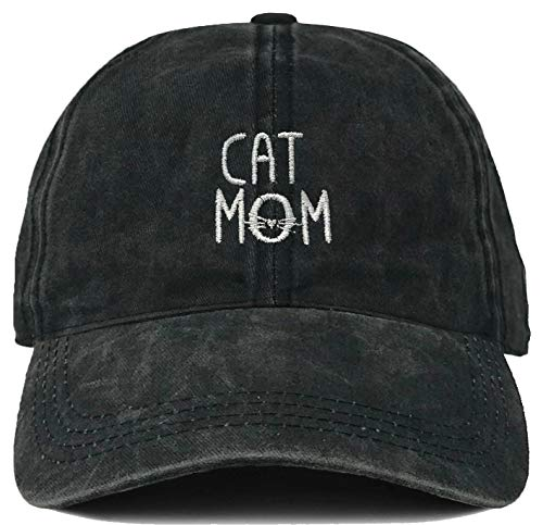H-214-CM06 Dad Hat Unconstructed Vintage Washed Low Profile Cap - Cat Mom