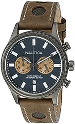 Nautica Men's NAD19538G NMS 02 Analog Display Quartz Brown Watch