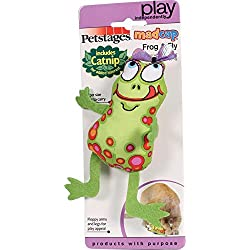 Petstages 746 Madcap Frog and Fly Cat Catnip Toss and Bat Plush Toy