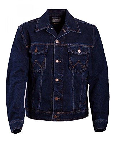 Black Blue Hombre Azul Chaqueta Wrangler Negro para Auth Jacket Western tIAw1Tq