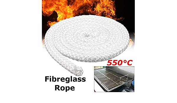 2M 12.7mm Wood Fire Stove And Heater Rope Seal Fibreglass Fiber Cloth Rope
