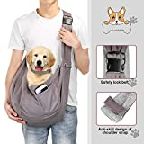 OWNPETS Pet Sling Carrier, Pet Sling Carrier Bag Safe,Fit 20~25lb Cats&Dogs, Comfortable, Adjustable, Perfect for Daily Walk, Outdoor Activity and Weekend Adventure