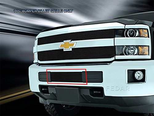 Fedar Lower Bumper Overlay Billet Grille Insert for 2015-2017 Chevrolet Silverado 2500HD/3500HD