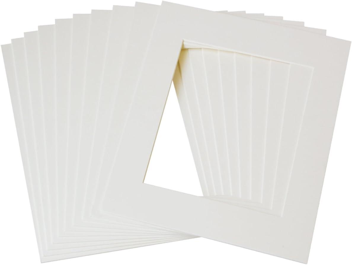Betus Tapis Photo 11 x 14 Blancs Paquet de 10 Coupe en biseau /à Noyau Blanc pour 8 x 10 Images