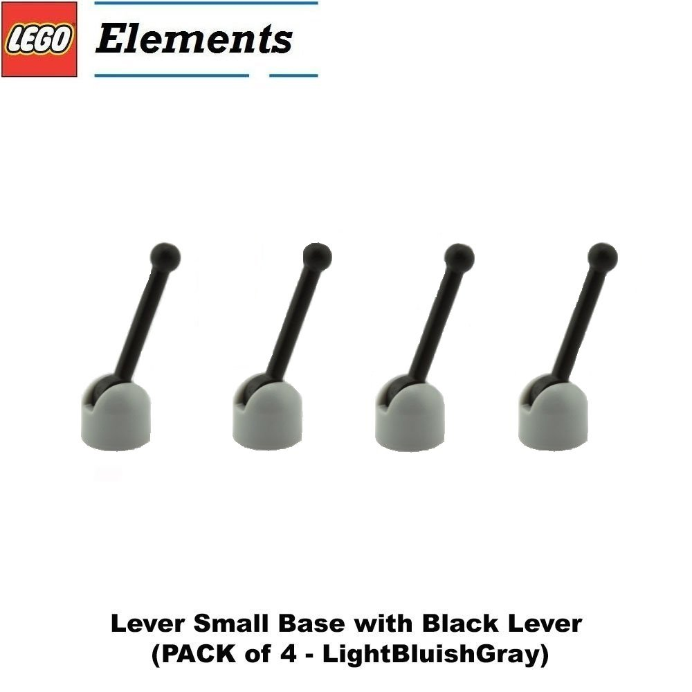 Amazon.com: Lego Parts: Lever Small Base with Black Lever (PACK of 4 ...