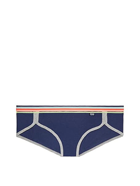 ad6d75fe2e0 Image Unavailable. Image not available for. Color  Victoria s Secret Pink  Sheer Stripe Waist Hipster Panty