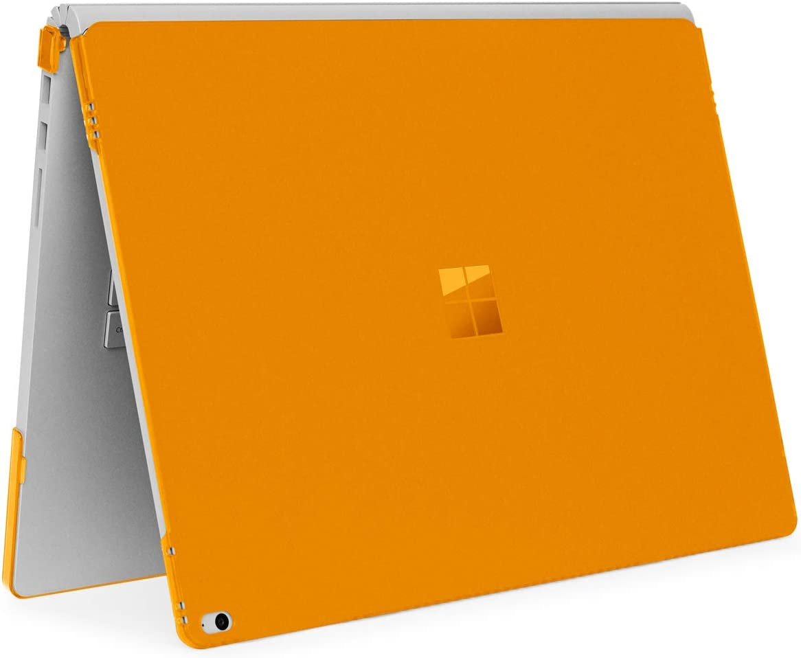 mCover Hard Shell Case for Microsoft Surface Book Computer 1 & 2 & 3 (15-inch Display, Orange)