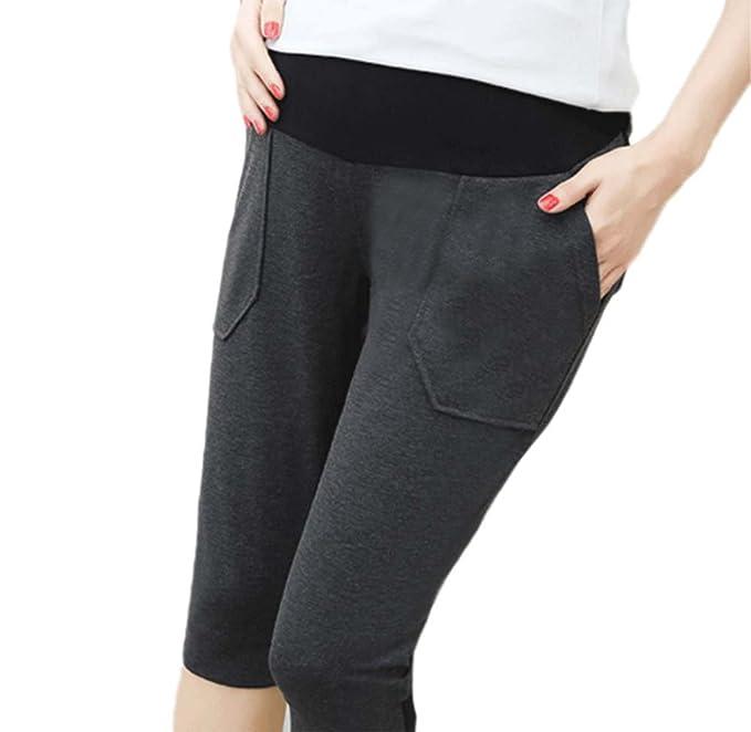 l'atteggiamento migliore 7c161 e3677 Hellomiko Pantaloni Premaman Estivi Pantaloni Sportivi Casual 3/4  Pantaloncini con Lacci
