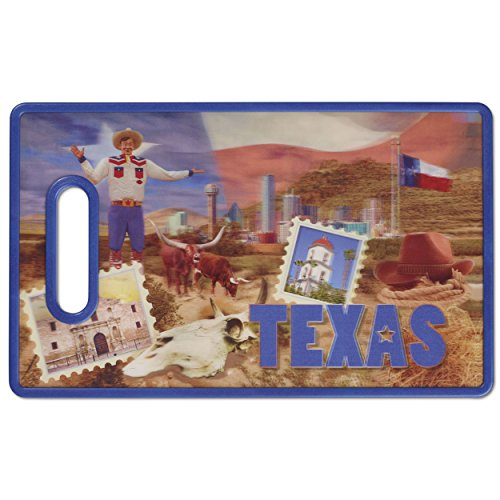 Amazon.com: Cuisinart CCB-3DTEX 3-D City Collection Texas Cutting Board, Multicolored: Kitchen & Dining