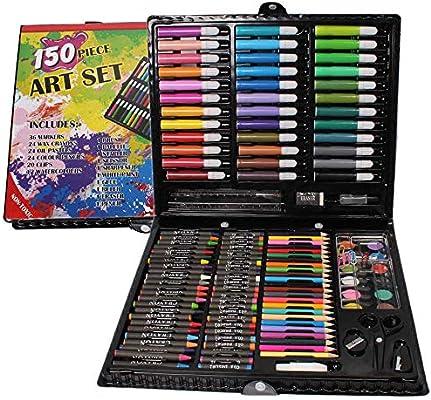 XFWJ Juego De Arte De 150 Piezas para Niños - Estuche para Colorear Y Pintar para Artistas Junior Kit De Arte para Niños: Amazon.es: Hogar