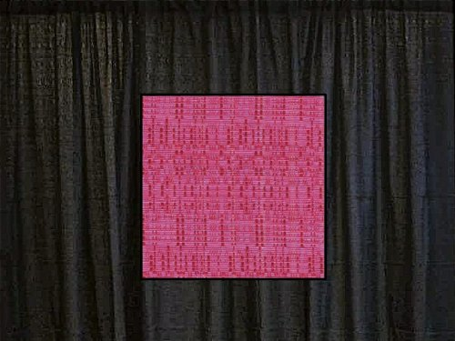8 Ft. High x 4 Ft. Wide Banjo Drape Panel (For Pipe and Drape Displays and Backdrops) - Raspberry